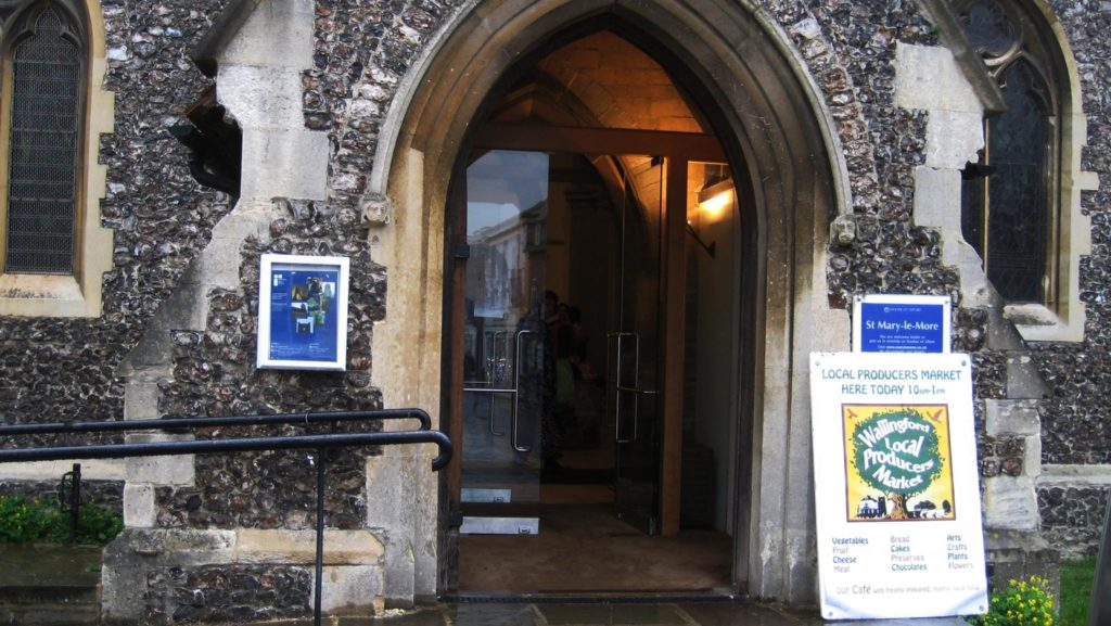 Entrance to St Mary-le-More Church, Wallingford, for WLPM